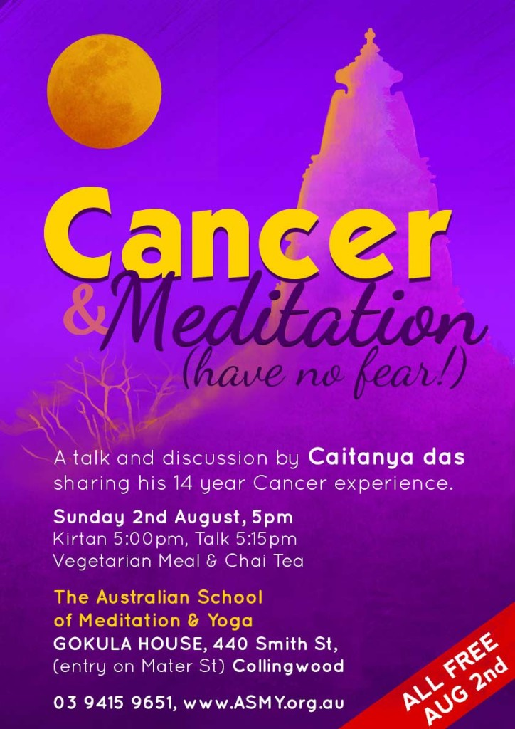 Caitanya Das Cancer and Meditation and Yoga Fitzroy