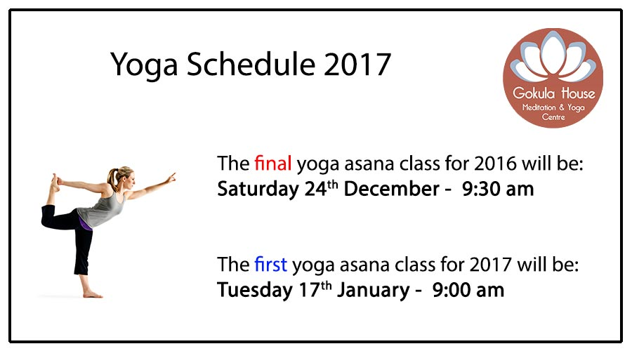 Yoga Melbourne Schedule 2017
