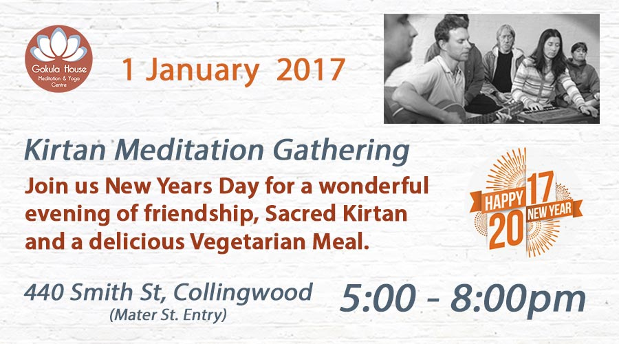 New Years Day Kirtan 2017