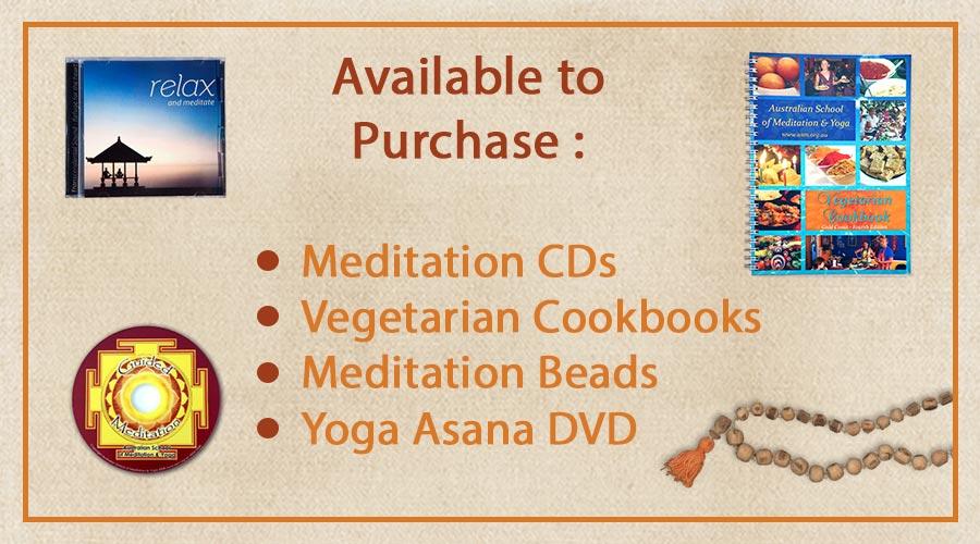 MeditationCDs; Vegetarian_Cookbooks; Meditation_Beads