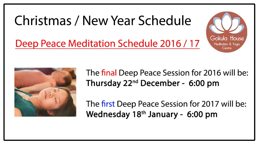 Deep Peace Meditation Melbourne